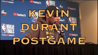 Entire KEVIN DURANT postgame: JR Smith, LeBron, block-charge