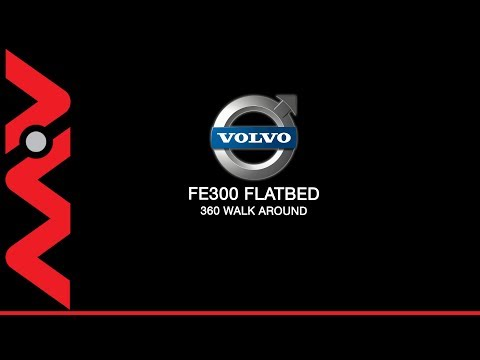 SK63JYU Volvo FE300 Flatbed 360 walk around