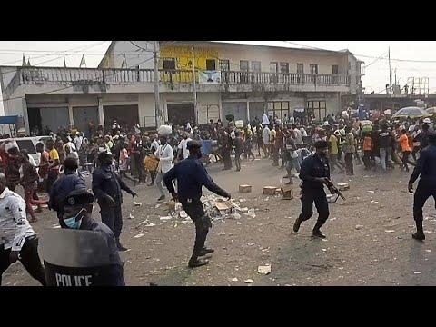 VIDEÓ: meghiúsította a kongói ellenzék tüntetését a rendőrség