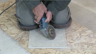 How To Cut A Floor Tile Circle For Toilet Flange