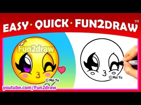 fun2draw 100 cats- cute winking cat emojis