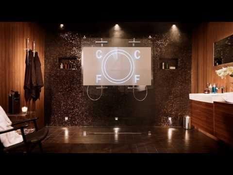 Baderomsinnredning med dusjvegg, blandebatteri | INR