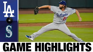 Kershaw dominates, Bellinger homers in win | Dodgers-Mariners Game Highlights 8/20/20