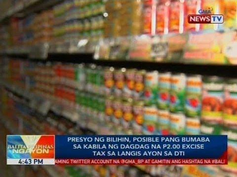 Presyo ng bilihin, posible pang bumaba kabila ng dagdag na P2.00 excise tax sa langis ayon sa DTI