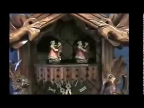 Hones Hunting Cuckoo Clock - Musical  Animated Dancers   #634/3T