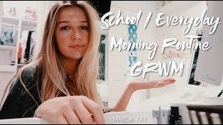 My School / Everyday Morning Routine // GRWM