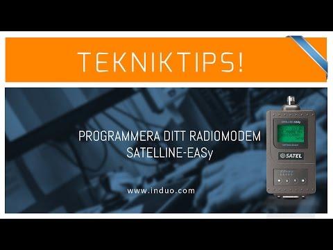 Programmering av SATELLINE radiomodem