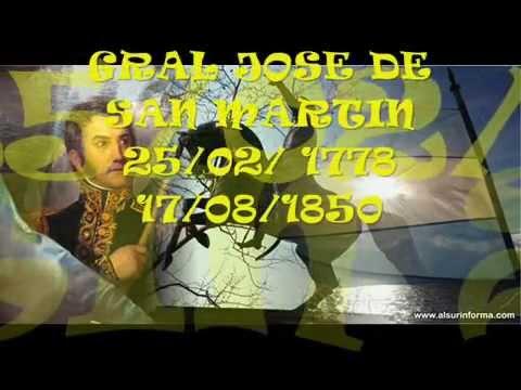 GRAL JOSE DE SAN MARTIN JOSE CORRENTINO ( en un caballito blanco)