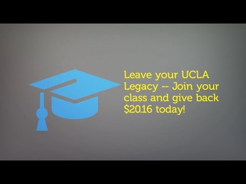 UCLA Class of 2016 - Senior Class Giving