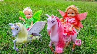 Elsa and Anna toddlers become fairies