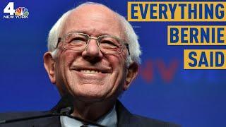 Everything Bernie Sanders Said During the Democratic Debate in Atlanta | NBC New York