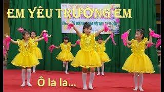 Múa Em Yêu Trường Em (2D)   Ca múa nhạc thiếu nhi vui nhộn 20/11 - Nhà Giáo Việt Nam