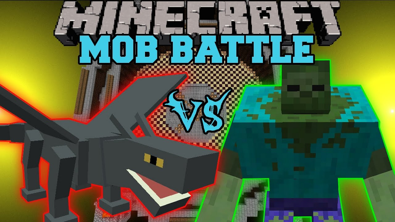 Iron Dragon Vs Mutant Zombie Minecraft Mob Battles