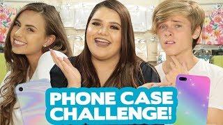DIY PHONE CASE CHALLENGE?! w/ Karina Garcia, Luke Korns & Natalie Tasha