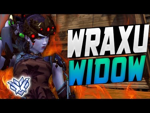 WRAXU INSANE WIDOW! 33 ELIMS - 1 DEA-TH! [ OVERWATCH SEASON 8 TOP 500 ]