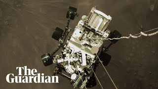 Footage of Perseverance rover landing on Mars released by Nasa
