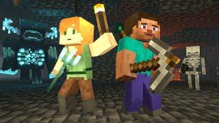 Caves & Cliffs   Alex and Steve Life   Minecraft Animation