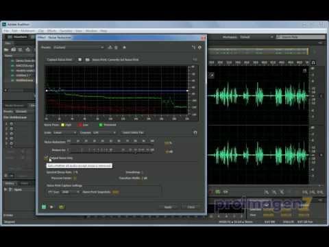 Mejoramiento de audio. Reducción de ruido, eco y silbancias en Adobe Audition