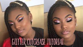Glitter Cut Crease Makeup | Client Tutorial
