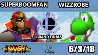 SnS 4 - PG | SuPeRbOoMfAn (Falcon) Vs. Frys | Wizzrobe (Yoshi) SSB64 Grand Finals - Smash 64