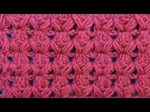 Узор вязания для шапки Вязание крючком с пышными столбиками 136