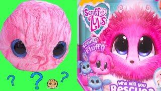 Fluffy Bath Water Plush Pet Blind Bag Ball ! Scruff A Luvs
