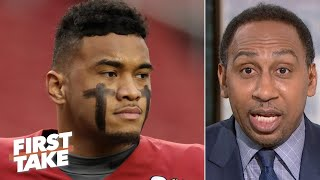 Stephen A. to Tua Tagovailoa: Get the hell out of college as soon as you can!   First Take
