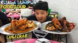 CHILI Crab & Noodles! Malaysia Food Tour Kuala Lumpur