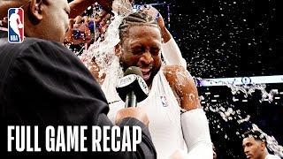 HEAT vs NETS   Dwyane Wade Shines In Last NBA Game   April 10, 2019
