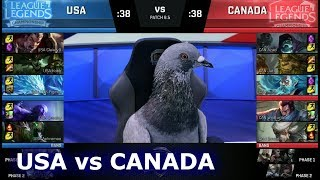 NA LCS Civil War - Team USA vs Team Canada | 2018 April Fools LoL Casters and Pro Players show Match