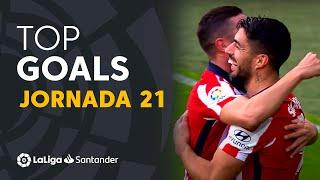 Todos los goles de la Jornada 21 de LaLiga Santander 2020/2021