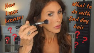Where to Put Bronzer on Your Face | How I Style 2nd Day Hair
