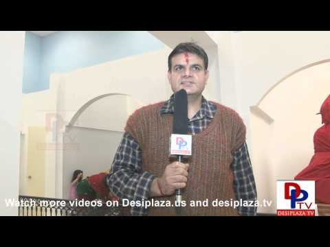 A devotee of the temple speaking to Desiplaza TV on Shivaratri Day in Dallas.