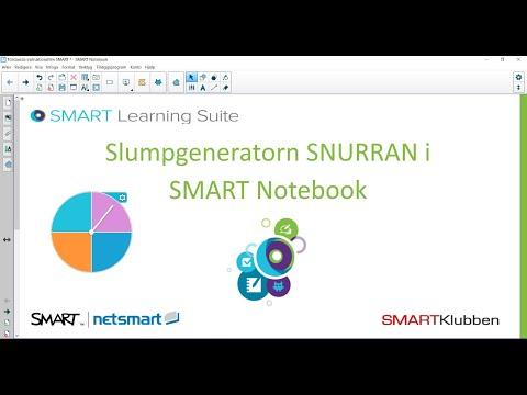 """Slumpgeneratorn """"Snurra"""" i SMART Notebook"""