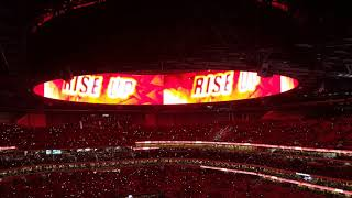 Thursday Night Football: Atlanta Falcons Pre-Game Pump Up The CROWD...RISE UP!!!