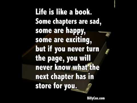 Turn The Page On The Next Chapter Of Your Life - Billy Cox