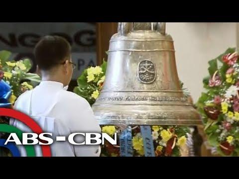 Balangiga bells buena manong ginamit sa unang Misa de Gallo 2018