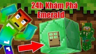 Thử Thách 24h Khám Phá Block Emerald ** Bên Trong Emerald Có Gì ?