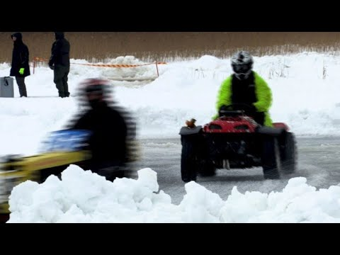 Finland's 'Lawnmower Le Mans' comes to slushy end
