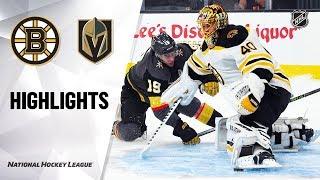 Bruins @ Golden Knights 10/8/19 Highlights