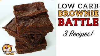 Low Carb BROWNIE BATTLE - The BEST Keto Brownies Recipe - Lowcarb Chocolate Brownies!