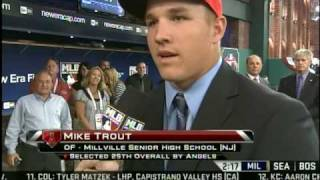 Millville's Mike Trout Drafted by the Angels - 2009 MLB Draft