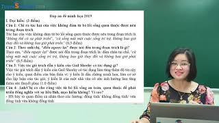 Chữa đề minh họa kì thi THPTQG 2019 môn Ngữ Văn – Cô giáo: Phạm Thị Thu Phương