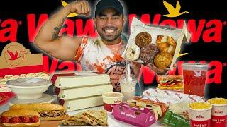 Eating WAWA's Gas Station Food Challenge (8000 Calories)
