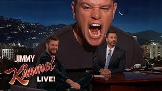 Matt Damon Ruins Chris Hemsworth Interview