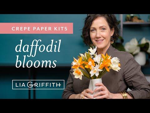 Crepe Paper Daffodil Flower Kit (full tutorial)