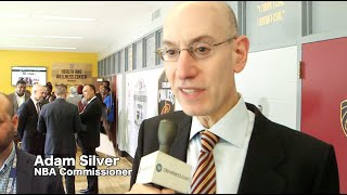 NBA Commissioner Adam Silver discusses Cavs' renovations at Thurgood Marshall Rec. Center