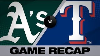A's overpower Rangers with 4-homer barrage   Athletics-Rangers Game Highlights 9/14/19