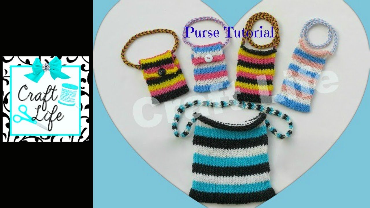 Craft Life Purse Tutorial on One Rainbow Loom - YouTube Rainbow Loom Mini Purse Craft Life