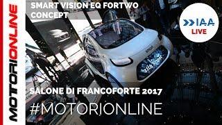 Smart Vision EQ fortwo concept | LIVE al Salone di Francoforte 2017